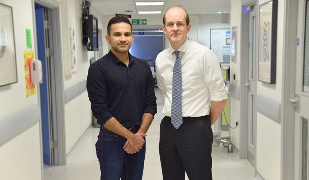 Mustafa Khanbhai and Erik Mayer BMJ award winners